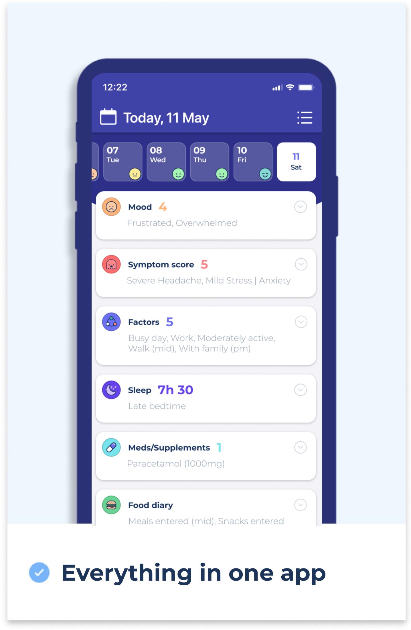 Everything in one health tracker app